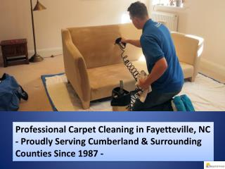 Professional Carpet Cleaning in Fayetteville, NC