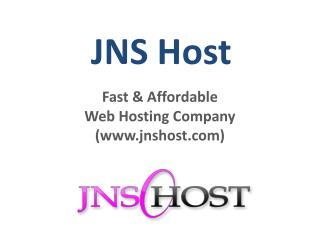 Reliable Web Hosting Services In JNS Host