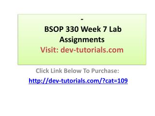 BSOP 330 Week 7 Lab Assignments Chapter 16, problems 16.1, 1