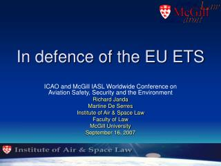 In defence of the EU ETS