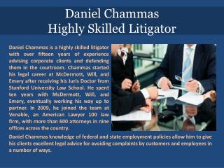 Daniel Chammas_Highly Skilled Litigator