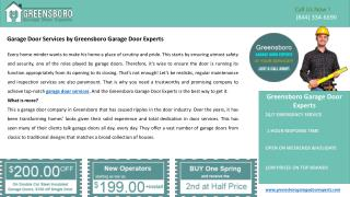 Ppt Garage Door Repair Specialists In Greensboro