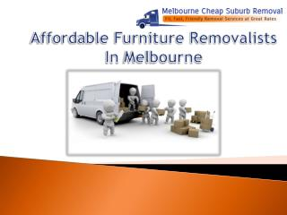 Affordable Furniture Removalists In Melbourne
