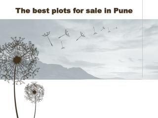 The best plots for sale in Pune