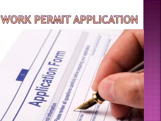 Work Permit Application in Canada Immigration