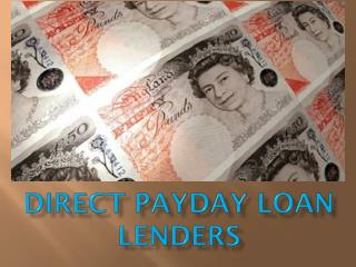 Direct Payday Loan Lenders