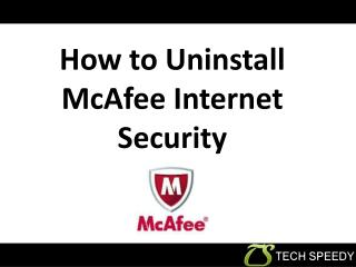 How to Uninstall McAfee Internet Security