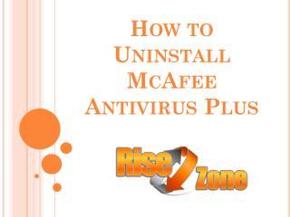 How to Uninstall McAfee Antivirus Plus