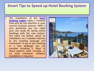Smart Tips to Speed up Hotel Booking System