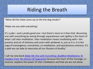 Riding the Breath