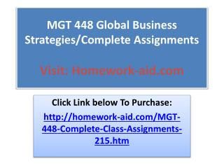 MKT 498 Complete Class