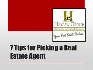 7 Tips for Picking a Real Estate Agent
