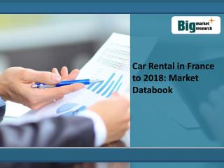 Car Rental in France to 2018: Market Databook