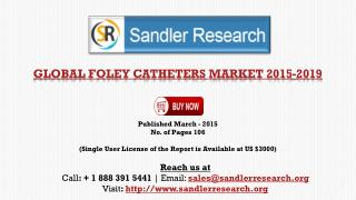 Foley Catheters Market - Global Market Outlook 2015-2019