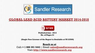Worldwide Lead Acid Battery Market Research and Analysis Rep