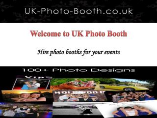 Photo Booth Hire in Glasgow