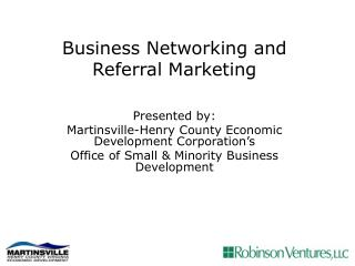 Business Networking and Referral Marketing
