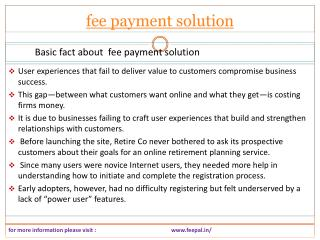 Wonderful web resource for fee payment solution