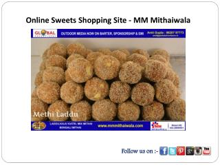 Online Sweets Shopping Site - MM Mithaiwala