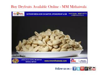 Buy Dryfruits Available Online - MM Mithaiwala