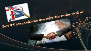 Best UK companies can now advertise online with us