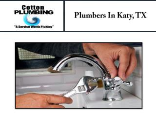 Plumbers In Katy, TX