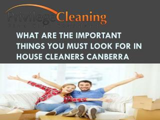 What are the important things you must look for in house cle