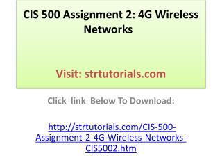 CIS 500 Assignment 2: 4G Wireless Networks