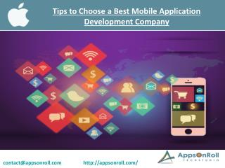 Tips to Choose a Best Mobile Application Development Company