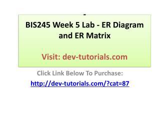BIS245 Week 5 Lab - ER Diagram and ER Matrix