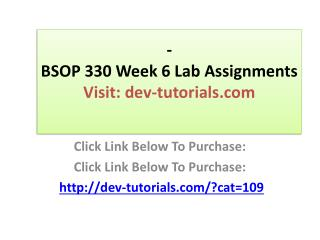BSOP 330 Week 6 Lab Assignments Chapter 14, problems 14.1, 1