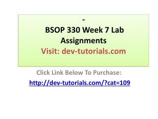 BSOP 330 Week 7 Quiz