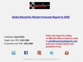 2015 - 2020 Global Biosimilar Market Overview