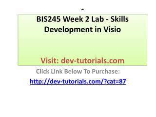 BIS 245 Final Exam