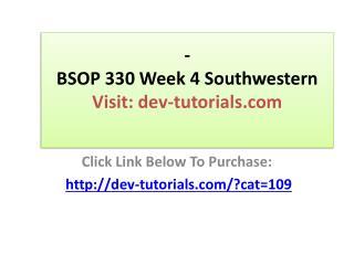 BSOP 330 Week 4 Southwestern Case study Printing companies P