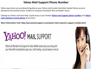 Online Yahoo Mail Customer Support Phone Number