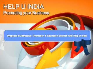 Help U India Proposal for Colleges & Universities