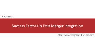 success factors in post merger integration