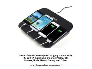 iDsonix®Multi-Device 4port Charging Station With 2x 5V2.1A &