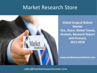 Global Surgical Robots Market, 2012 to 2018