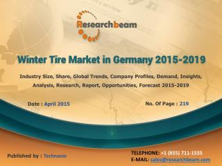 Germany Winter Tire Market Growth, Size, 2015-2019