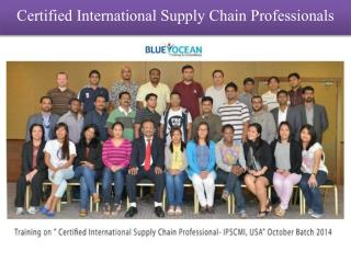 Certified International Supply Chain Professionals