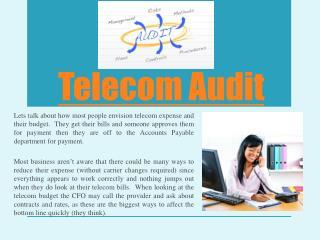 Telecom Auditing