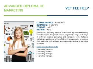 Advanced Diploma of Marketing Course Online