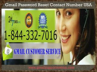 Call 1-844-332-7016 Gmail Password Recovery