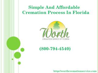 Simple And Affordable Cremation Process In Florida