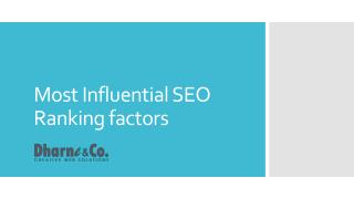 Most Influential SEO Rankings Factors