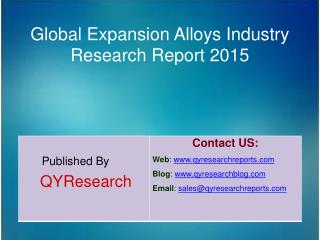 Global Expansion Alloys Industry 2015 Market Size Share Surv