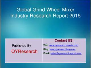 Global Grind Wheel Mixer Industry 2015 Market Size Share Sur