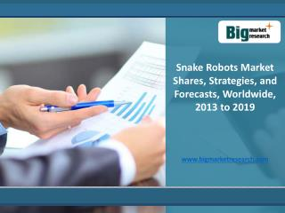 Worldwide expected growth of Snake Robots Market 2013-2019